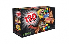 MARS ASSORTED Chocolate Halloween Candy Bars, Variety Pack, 120 count