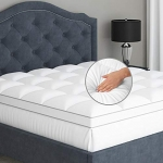 Sleep Mantra Plush Quilted Pillow Top with Down Alternative Fill