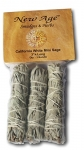 Mini Sage Wands, 4-Inch, Pack of 3
