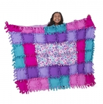 Melissa & Doug Created by Me-Flower Fleece Quilt Arts and Crafts Kits, 4′ x 5′