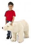 Melissa & Doug Giant Polar Bear – Lifelike Stuffed Animal (nearly 3 feet long)