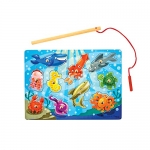 Melissa & Doug Magnetic Wooden Fishing Game and Puzzle
