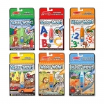 Melissa & Doug On The Go Water Wow! Reusable Travel Activity Pad 6 Pack