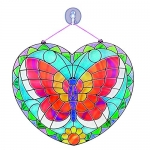 Melissa & Doug Stained Glass Made Easy Activity Kit: Butterfly