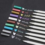 Metallic Marker Pens, Set of 10 Colors