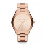 Michael Kors Mini Slim Runway Rose Goldtone Three-Hand Watch