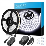MINGER 16.4ft/5M LED Flexible Strip Light Kit, Daylight White