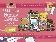 MotherWord Ultimate Family Magnetic Hanging Calendar and Chore Chart, Large Deluxe Version, 18″ x 13.5″