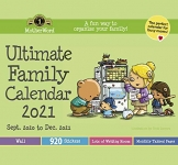 MotherWord Ultimate Family Wall Calendar, 16-Month,  Tabbed Version, 12″ x 21.5″