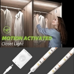 Megulla Motion Activated LED Cabinet Lights, Cool White