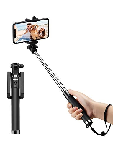 Mpow Selfie Stick, Extendable 31.9 Inch Bluetooth Selfie Stick with Wireless Remote