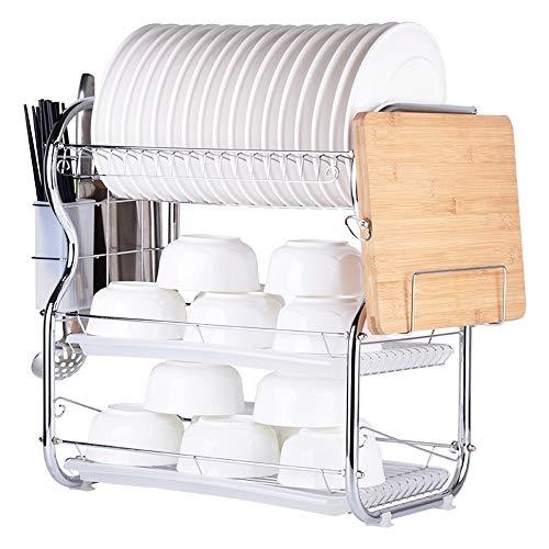 Decdeal 3-Tier Multi-Functional Dish Rack