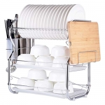 Decdeal 3-Tier Multi-Functional Dish Rack