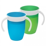 Munchkin 2 Pack Miracle 360⁰ 7oz Trainer Cup/Blue and Green