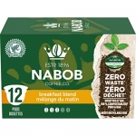 Nabob Breakfast Blend Coffee 100% Compostable Pods, 6 Boxes of 12 Pods