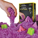 National Geographic Play Sand – 2 LBS of Sand with Castle Molds and Tray (Purple)