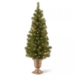 National Tree 4 Foot Montclair Spruce Entrance Tree with 50 Clear Lights in Decorative Urn
