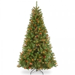 National Tree 7 1/2 Foot Hinged North Valley Spruce Tree with 550 Multi-Colored Lights