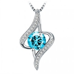 """J.Rosée Jewelry Sterling Silver Pendant Necklace """"The Eye of Lover"""""""