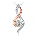"""Sterling Silver Necklace J.Rosée Fine Jewelry for Women """"Love Mom"""""""
