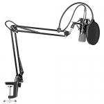 Neewer Professional Studio Broadcasting Recording Condenser Microphone & Adjustable Recording Microphone Suspension Scissor Arm Stand Kit