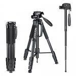 Neewer Portable 70 inches Aluminum Alloy Camera Tripod Monopod with 3-Way Swivel Pan