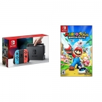 Nintendo Switch Console – Neon Edition with Mario + Rabbids Kingdom Battle