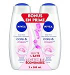 NIVEA Care & Roses Body Wash, 2 X 500ml