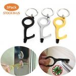 No Touch Door Opener Keychain Tool, 3 Pack