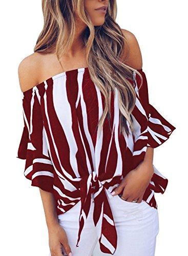 35% Off noabat Women's Off The Shoulder Blouse