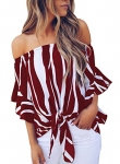 noabat Women's Off The Shoulder Blouse