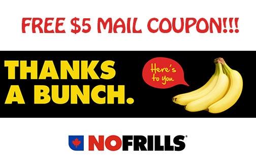 No Frills Coupon | $5 Off Groceries