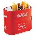 Nostalgia Coca-Cola Pop-Up 2 Hot Dog and Bun Toaster
