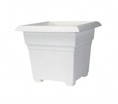 Novelty Mfg Co Countryside Square Tub Planter, White, 18-Inch Length