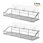 ODesign Adhesive Shelf Organizer Rack, Stainless Steel – 2 Pack