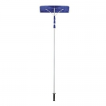 Ohuhu 21 Inch Twist-n-Lock Telescoping Snow Shovel Roof Rake with 6″ by 25″ Poly Blade