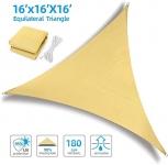 Ohuhu Sun Shade Sail 16′ X 16'X 16′ with Installation Kit