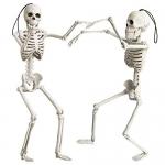 OKPOW 40cm Halloween Posable Skeletons, 2 pack