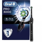 Oral-B Pro 3000 3D White Electric Toothbrush SmartSeries with Bluetooth Connectivity, Black Edition