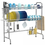 iSPECLE 2-Tier Over The Sink Dish Drying Rack