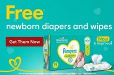 Free* Pampers Newborn Diapers & Wipes Sample Kit