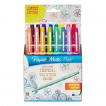 Paper Mate Flair Porous-Point Felt Tip Pen, Medium Tip, Limited Edition Tropical Vacation Colors, 16-Count