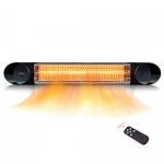 Veito Wall Mount Infrared Patio Heater with Remote (Black)