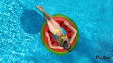 Inflatable Watermelon Giant Swim Ring