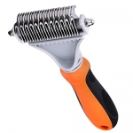 TOPELEK Double Sided Grooming/Dematting Brush Tool for Dogs & Cats