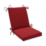 Pillow Perfect Red Chair Cushion for Indoor / Outdoor