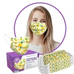 Premium 3-Ply Non-Medical Adults Disposable Face Mask (50 Pack), Pineapple