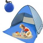 Pop Up Beach Tent, 2-3 Person, Stripe Blue