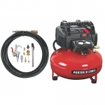PORTER-CABLE Oil-Free UMC Pancake Compressor with 13-Piece Accessory Kit