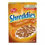 Post Honey Shreddies Cereal, 540 g